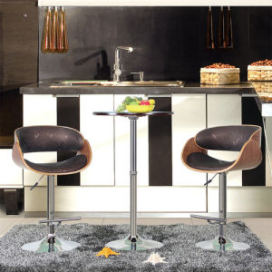 Modern Restaurant Dining Furniture Swivel Wooden Bar Chair (FS-WB1922) pictures & photos