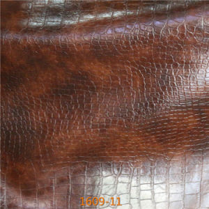 PVC Synthetic Microfiber Leather for Making Sofa, Home Textile (1609#) pictures & photos