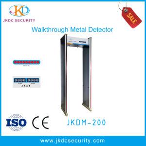 LED Alarm Light on Column Six Interlaced Detection Regions High Sensitive Walk Through Metal Detector pictures & photos