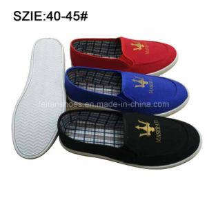 New Style Fashion Men′s Slip on Casual Canvas Shoes (MP16721-10) pictures & photos