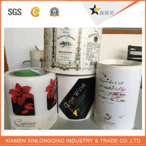 Custom Wine Beverage Waterproof Transparent Paper Adhesive Label Printing Sticker pictures & photos