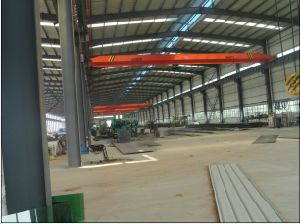 Steel Structure Frame Factory/Workshop Building with Crane Inside pictures & photos