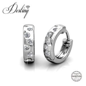 Destiny Jewellery Crystal From Swarovski Joy Hoop Earrings