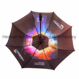 Quality Windproof Fiberglass Gift Golf Umbrella with Customized Digital Printing (GOL-0030FAC) pictures & photos