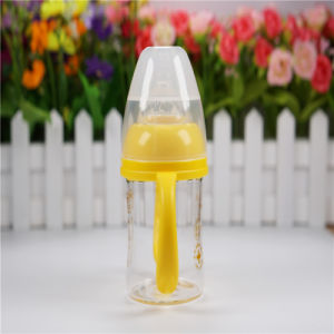 120ml Wide Neck Crystal Diamond Baby Glass Bottle pictures & photos