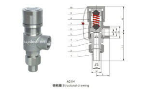 Spring Loaded Low Lift External Thread Type Safety Valve pictures & photos