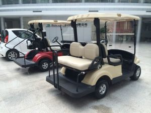 4 Seats Electric Golf Cart with 2 Rear Seats on Sale From Dongfeng Motor pictures & photos
