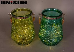 Furniture Decoration Light Glass Craft with Copper String LED Lighting (9113) pictures & photos