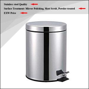 High Quality Stainless Steel Waste Bin / Dust Bin / Trash Bin / Rubbish Bin (3L/5L) pictures & photos