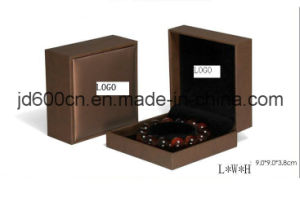Custom Logo Leather Paper Jewelry Box/ Clamshell Ring Box//Bracelet Box pictures & photos