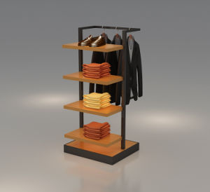 Convenient Display Rack for Garment and Shoes Stores