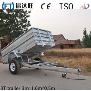 Rear Dumper Truck Trailer a Single Axle Box Trailer pictures & photos