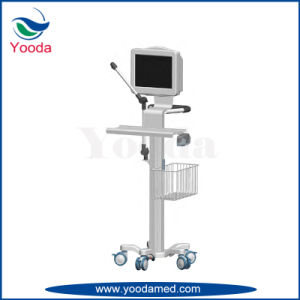 Hospital and Medical Mobile ECG Laptop Cart pictures & photos