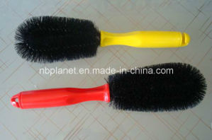 Plastic Single Wire Car Tire Cleaning Brush pictures & photos