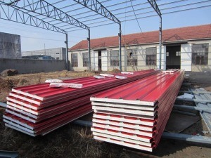 EPS Foam Insulated Wall Sandwich Panel pictures & photos