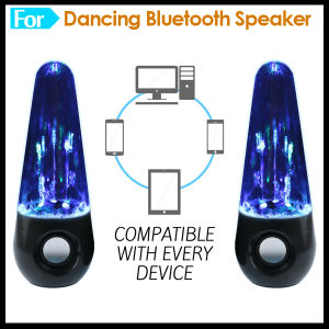 Magic Colorful LED Light Dancing Water Vibration Speaker Bluetooth pictures & photos
