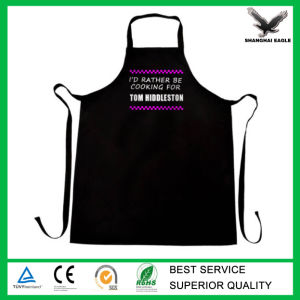 Wholesale Promotional Cheap Cotton Black Butchers Apron pictures & photos