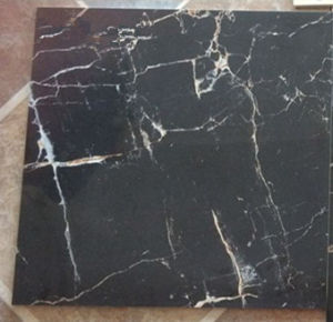 Nice Black Marble Design Full Polished Glazed Porcelain Tile pictures & photos