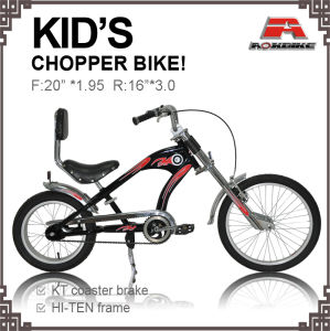 16-20 Inch Coaster Brake Kids Chopper Bike for 6-12 Age Children (AOS-1620S-1) pictures & photos