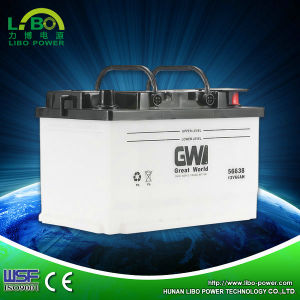 Factory Manufacture Lead Acid Dry Charged Car Battery---DIN66-56638