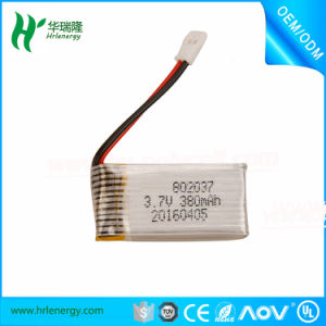 RC Battery 802037 3.7V 380mAh Lipo Battery for RC Drone Quadcopter pictures & photos