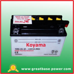 Flooded Lead Acid Battery for Motorcycle Battery -Yb6.5L-B-12V6.5ah pictures & photos