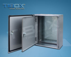 Aluminum Enclosure Double Door with Mounting Plate pictures & photos