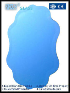 Blue Shaped Bevel Mirror pictures & photos