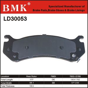 High Quality Brake Pad (LD30053) for American Car pictures & photos