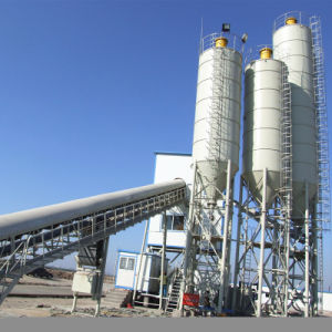 Belt Conveyor Concrete Batching Plant (Hzs60) pictures & photos