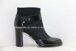 Sexy Europe Fashion High Heels Leather Lady Boots pictures & photos