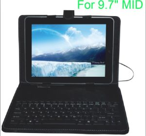 "Keyboard Leather Case for 9.7"" Tablet PC- (KL-PK003) pictures & photos"