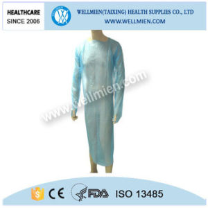 Plastic Disposable Medical Aprons with Sleeves pictures & photos