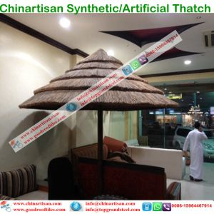 Artificial Thatch Tiki Bar/Tiki Hut Synthetic Thatched Cottage Water Bungalow Beach Umbrella pictures & photos