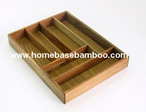 Acacia Wood Bamboo Cutlery Box Flatware Cutlery Tray Organizers Storage - Hb4001 pictures & photos