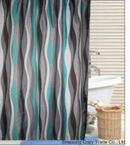Popular Design Polyester Shower Curtain pictures & photos