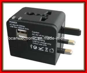 5V 1000mA/2100mA Dual USB Travel Adapter pictures & photos