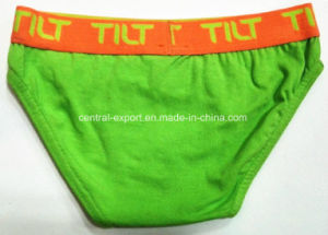 Bright Green Color Cotton Children Underwear Boy Boxer Breif pictures & photos