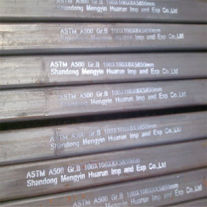ASTM A500 Steel Hollow Section (100X100mm) pictures & photos