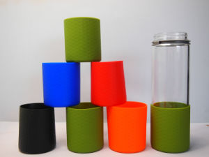 Anti-Slip Eco-Friendly Silicone Coffee Cup Sleeve Silicone Cup Sleeve with High Temperature Resistant