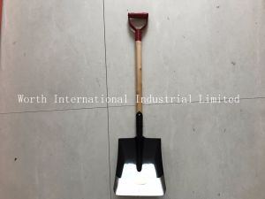 Red Grip Wood Handle Shovel pictures & photos