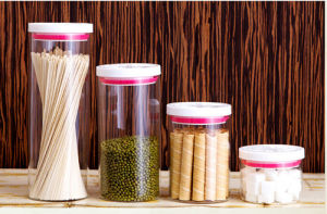 High Borosilicate Glass Food Storage Jar Sealed Lid Glass Jar pictures & photos