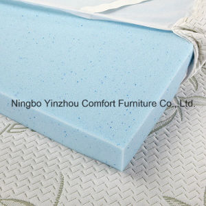 Memory Foam Gel Mattress with Zippered Bamboo Cover Cool Mattress Topper pictures & photos