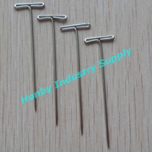 Fancy 55mm Nickel Plated Steel T Shaped Head Pins