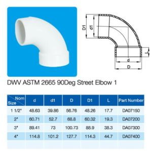 NSF Cetificate 90deg Street Elbow ASTM Dwv pictures & photos