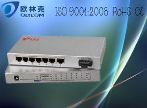 10/100m 1 Fiber + 7 Rj 45 Fiber Switch (TA717-FE/S20)