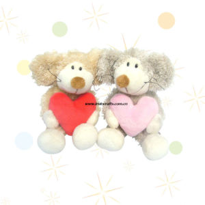 Lovely Dog Plush Toy with Heart (LE-VT100830)