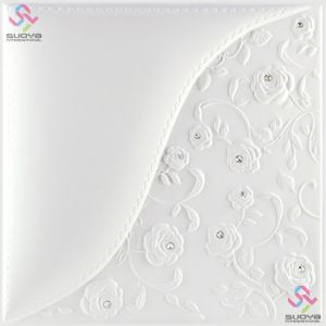 Decorative 3D PU Leather Wall Panel & Ceiling Tile 1007 pictures & photos