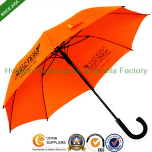 23 Inch Fiberglass Quality Straight Umbrella with Customized Logo (SU-0023FA) pictures & photos
