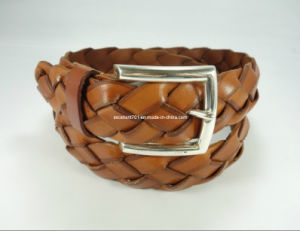 High-Quality Men′s Webbing Leather Belt with Pin Buckle (EUBL0683-40) pictures & photos